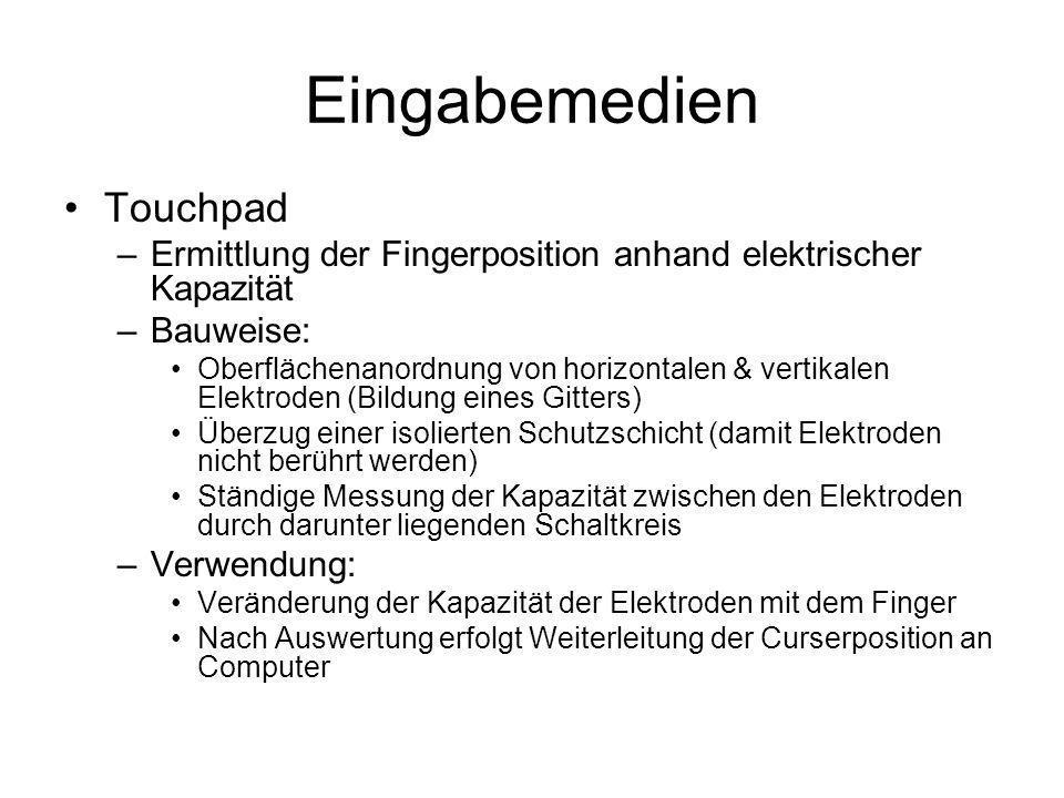 Eingabemedien Touchpad