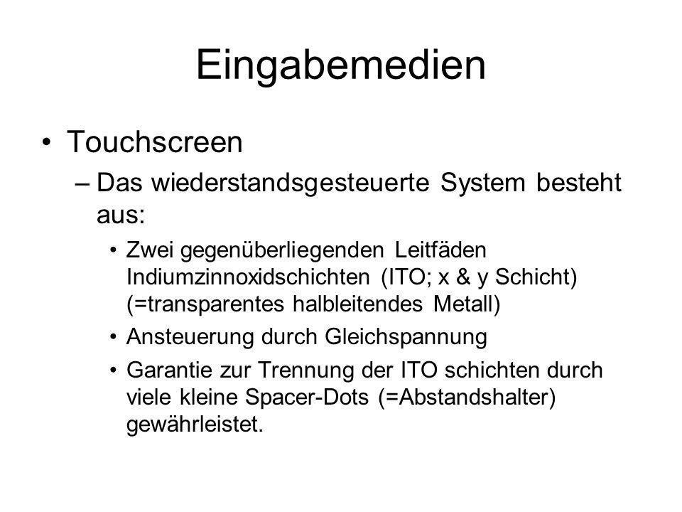 Eingabemedien Touchscreen