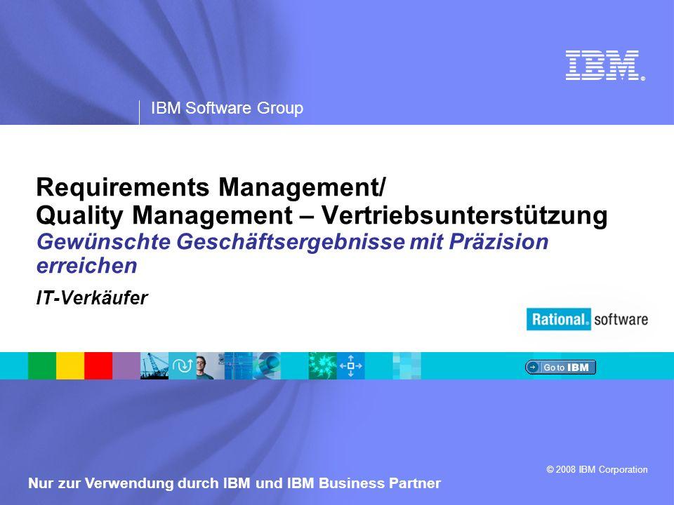 Requirements Management/ Quality Management – Vertriebsunterstützung Gewünschte Geschäftsergebnisse mit Präzision erreichen