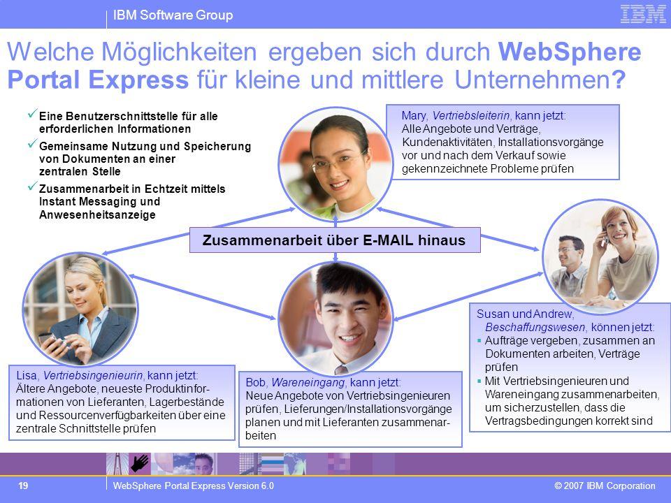 Zusammenarbeit über E-MAIL hinaus