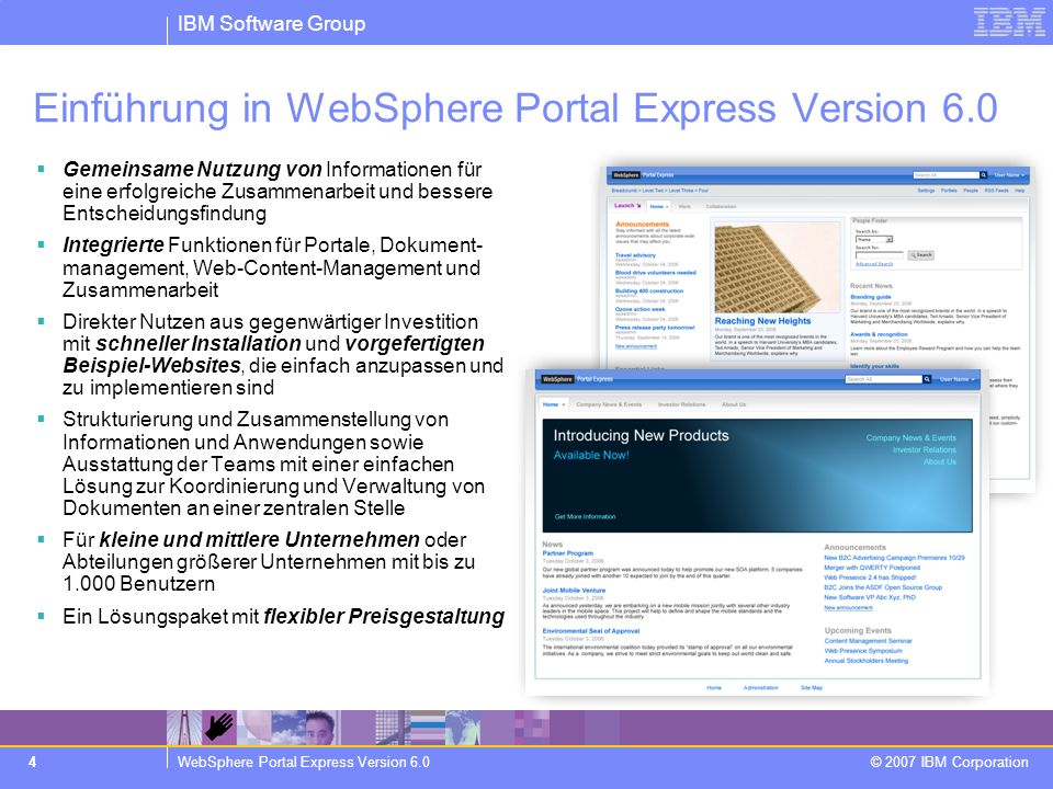 Einführung in WebSphere Portal Express Version 6.0
