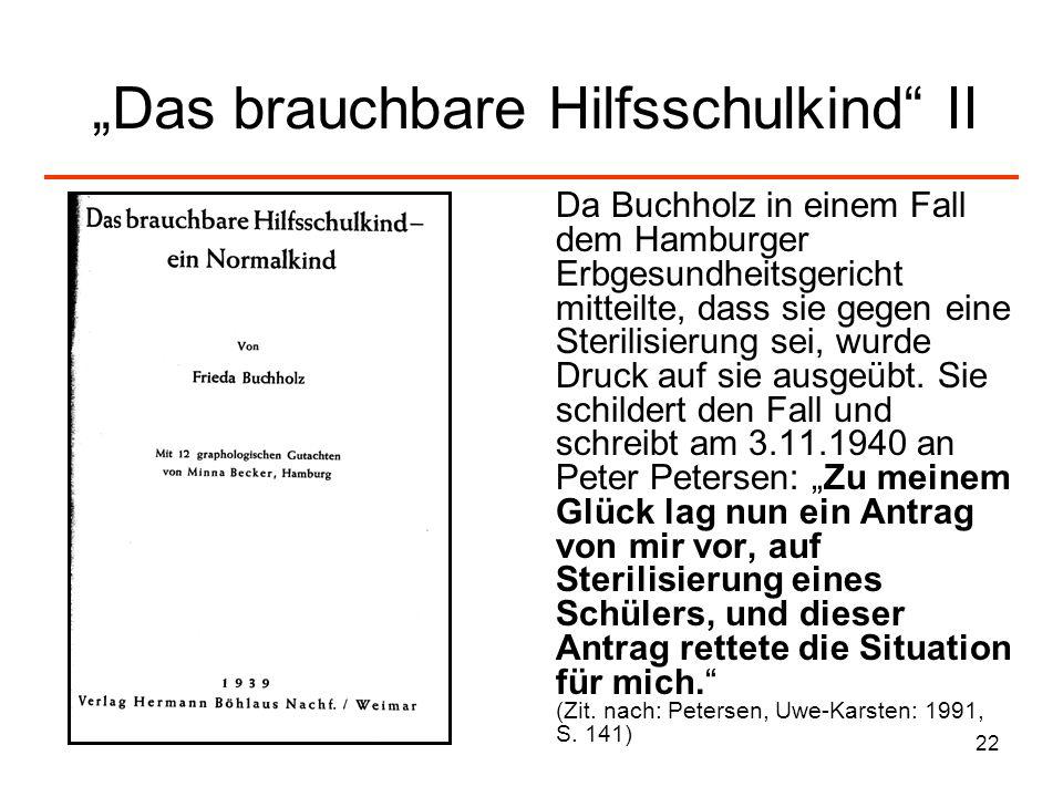 """""""Das brauchbare Hilfsschulkind II"""
