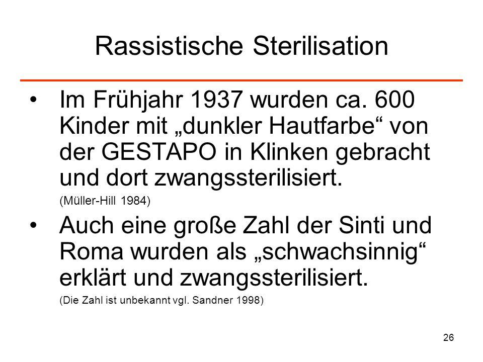 Rassistische Sterilisation