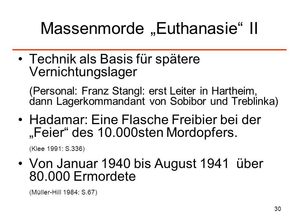 """Massenmorde """"Euthanasie II"""