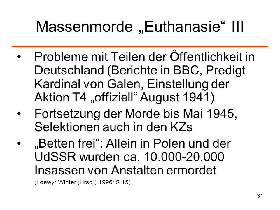 """Massenmorde """"Euthanasie III"""