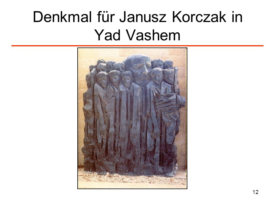 Denkmal für Janusz Korczak in Yad Vashem
