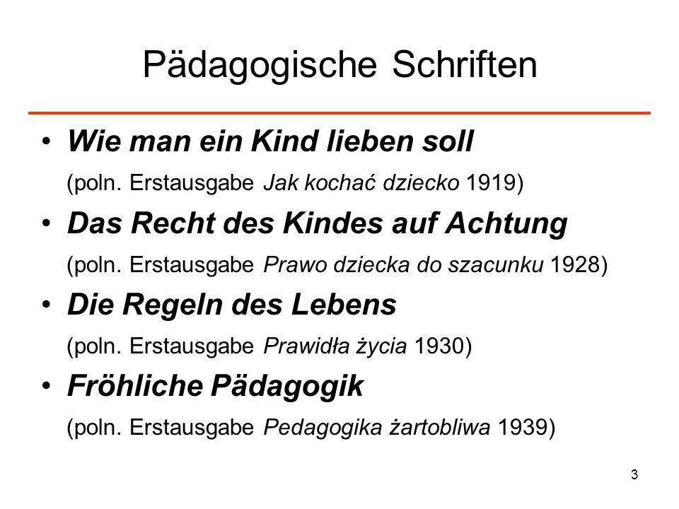 Pädagogische Schriften