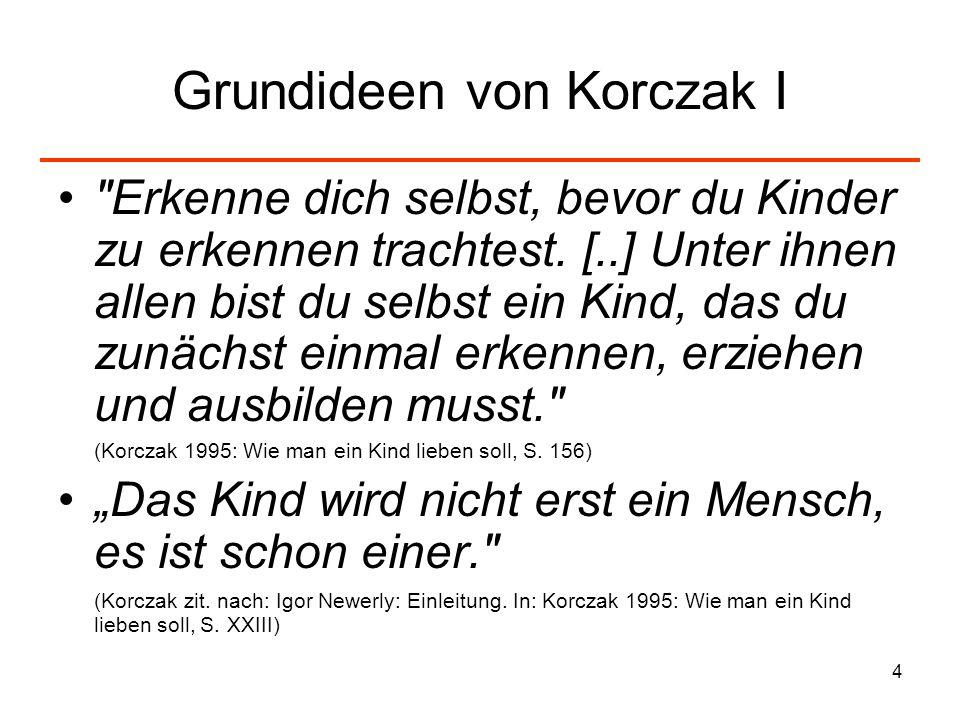 Grundideen von Korczak I