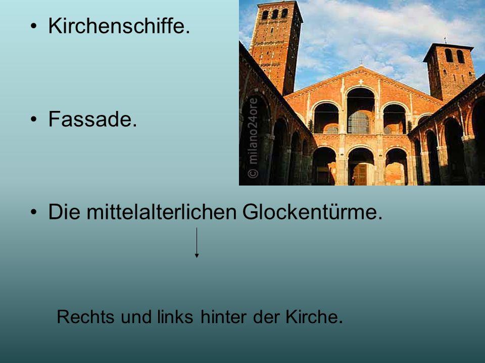 Die mittelalterlichen Glockentürme.