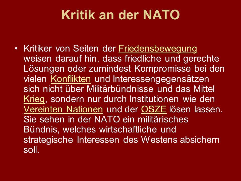 Kritik an der NATO