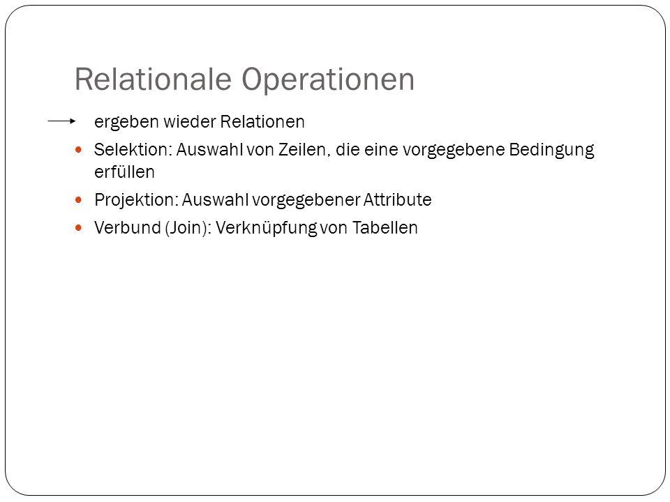 Relationale Operationen