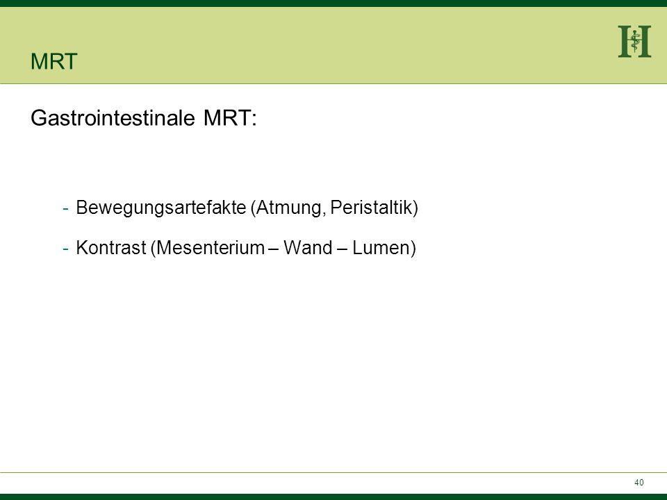 Gastrointestinale MRT: