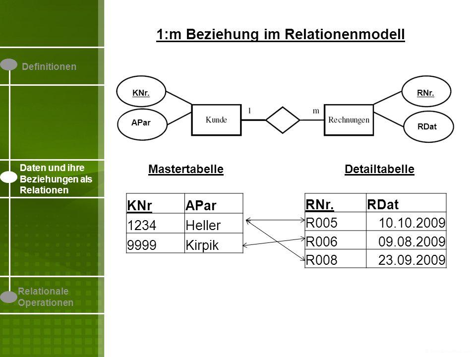1:m Beziehung im Relationenmodell