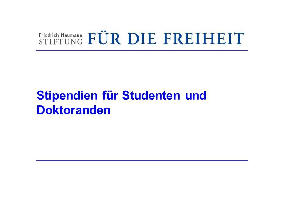 Stipendien für Studenten und Doktoranden