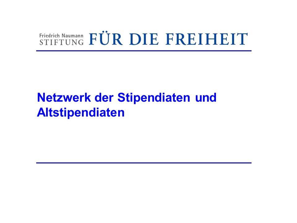 Netzwerk der Stipendiaten und Altstipendiaten