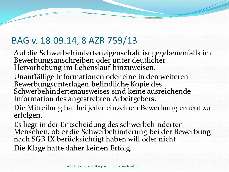 BAG v. 18.09.14, 8 AZR 759/13