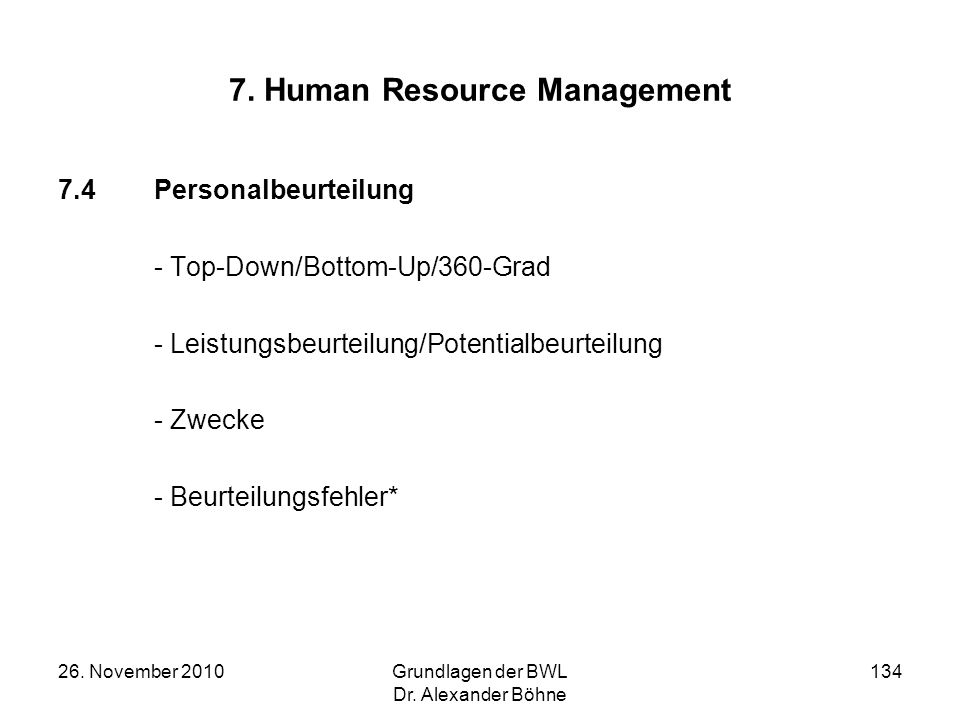 7. Human Resource Management