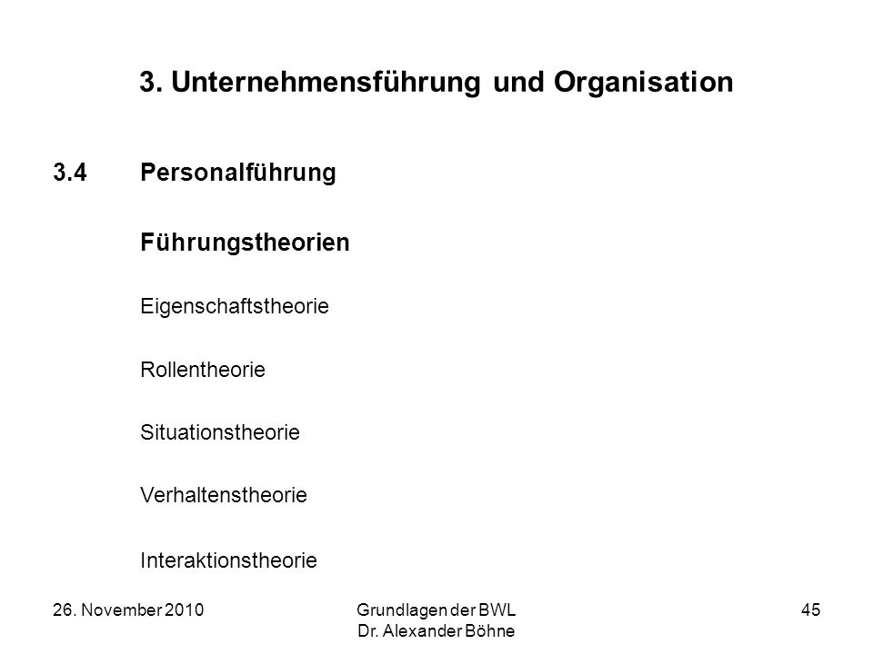 3. Unternehmensführung und Organisation