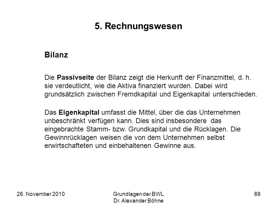 5. Rechnungswesen Bilanz.