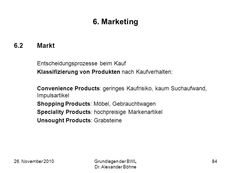 6. Marketing 6.2 Markt Entscheidungsprozesse beim Kauf