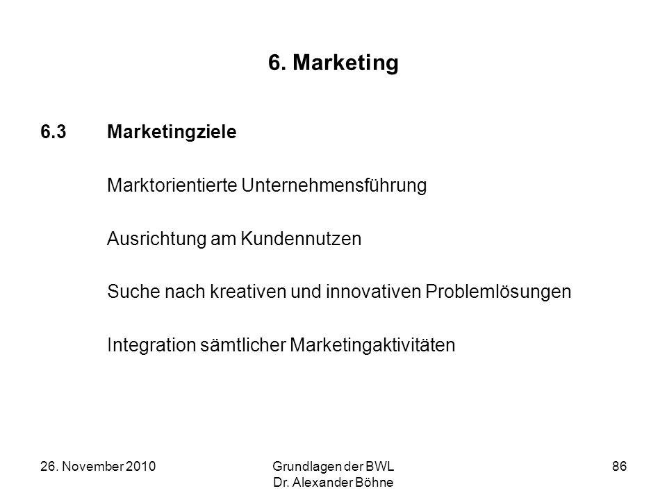 6. Marketing 6.3 Marketingziele Marktorientierte Unternehmensführung