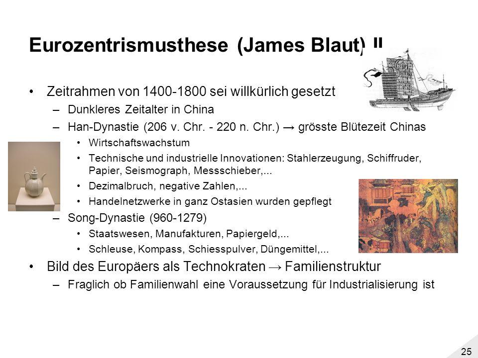 Eurozentrismusthese (James Blaut) II