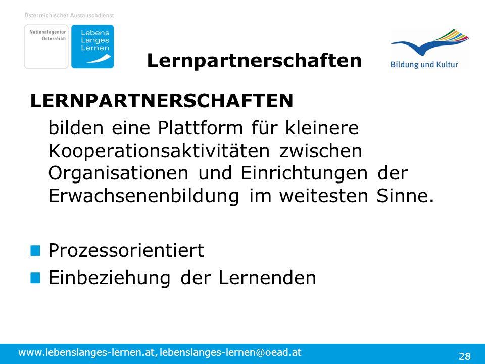 Lernpartnerschaften LERNPARTNERSCHAFTEN.