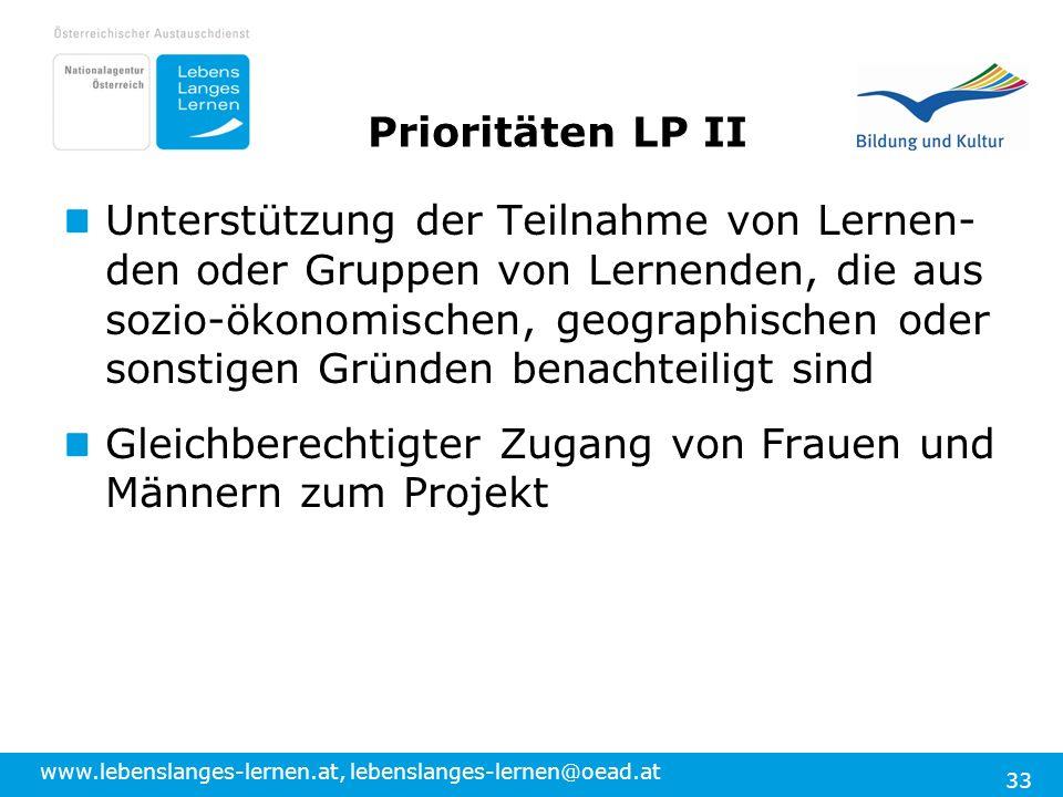 Prioritäten LP II