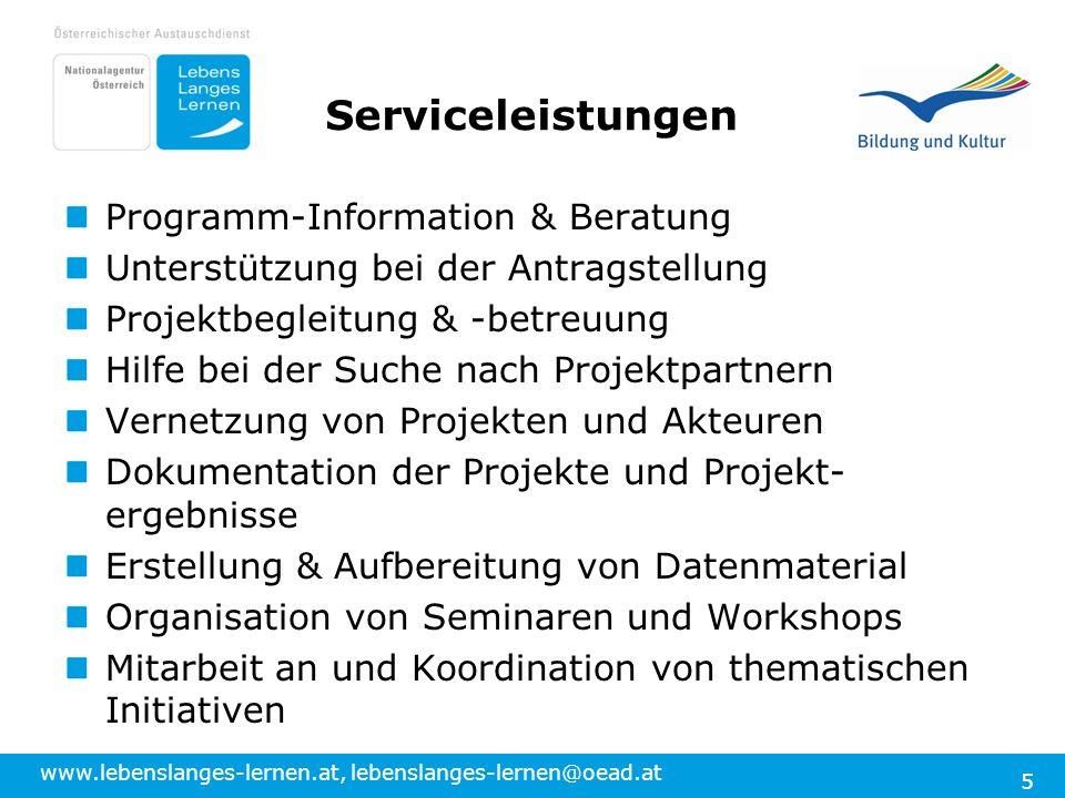Serviceleistungen Programm-Information & Beratung