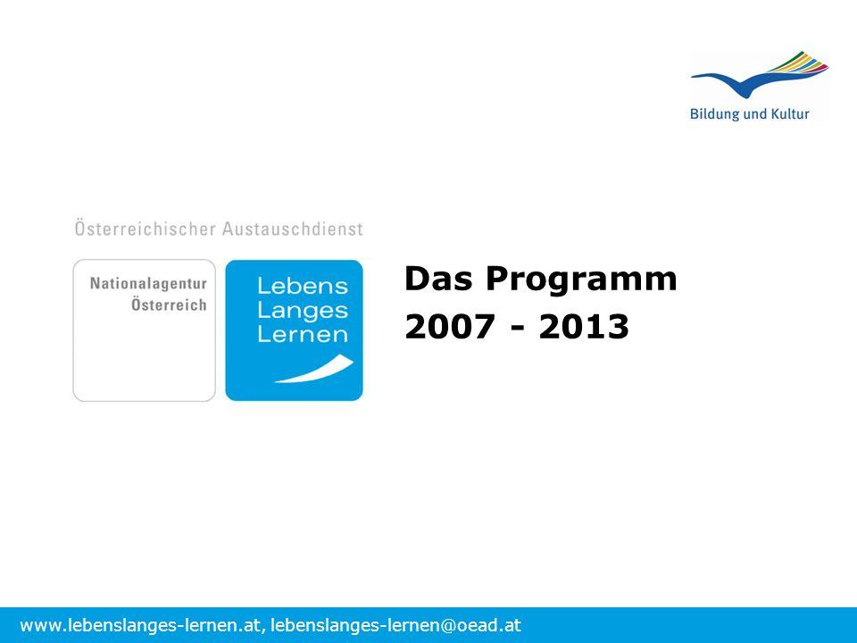 Das Programm 2007 - 2013