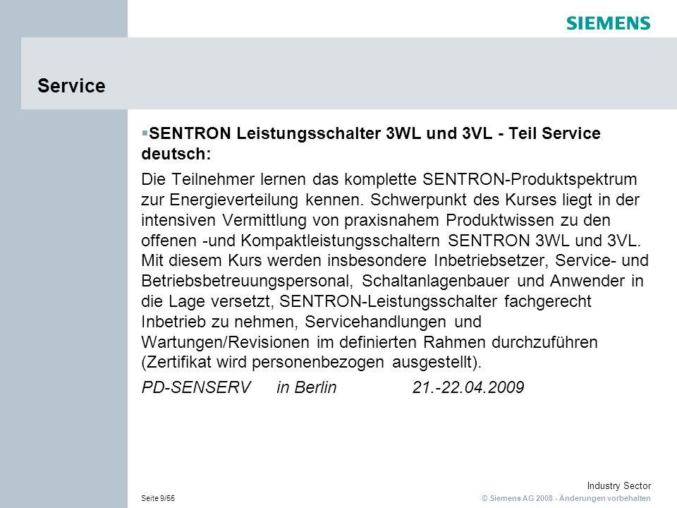 Service SENTRON Leistungsschalter 3WL und 3VL - Teil Service deutsch: