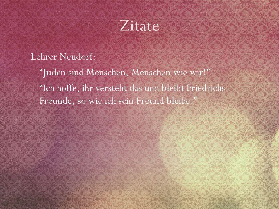 Zitate Lehrer Neudorf: Juden sind Menschen, Menschen wie wir!