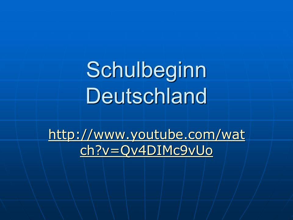 Schulbeginn Deutschland