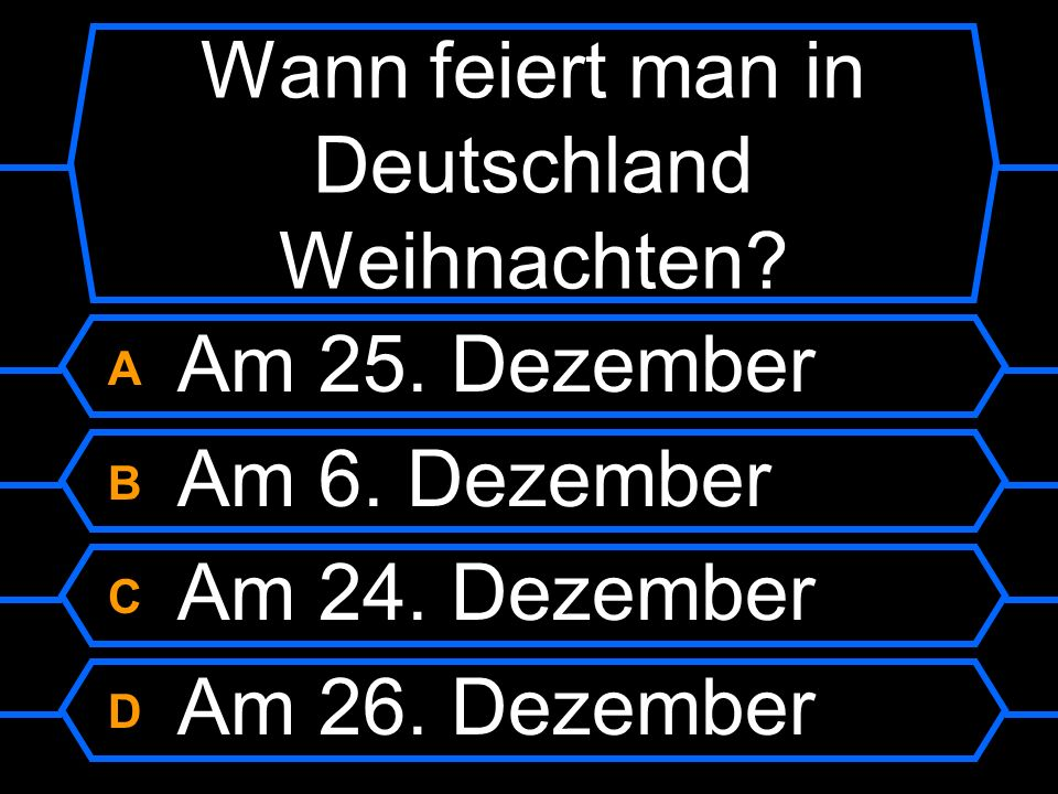 Wann feiert man in Deutschland Weihnachten