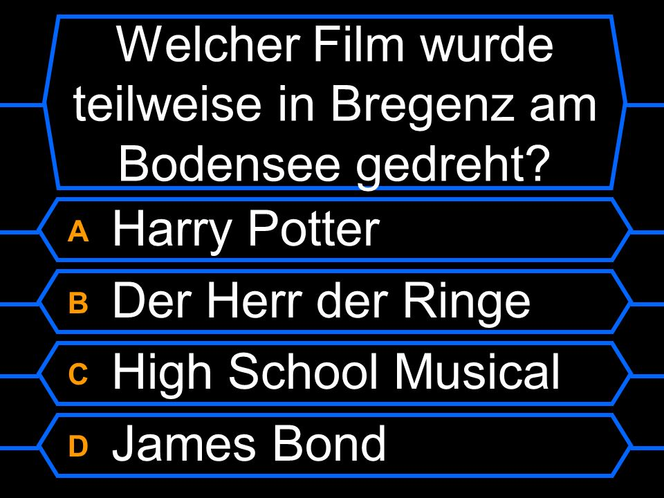 Welcher Film wurde teilweise in Bregenz am Bodensee gedreht