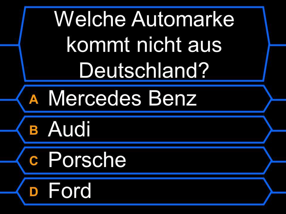 Welche Automarke kommt nicht aus Deutschland