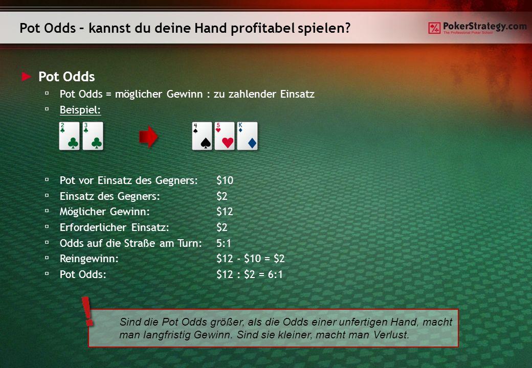 Pot Odds – kannst du deine Hand profitabel spielen