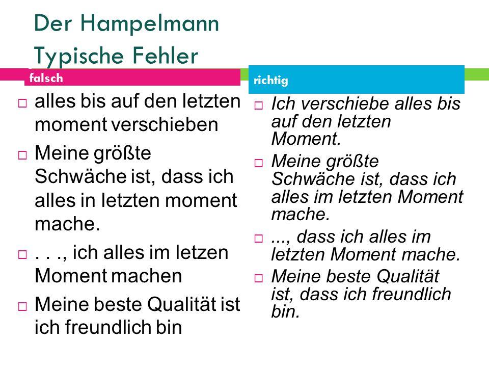 Der Hampelmann Typische Fehler
