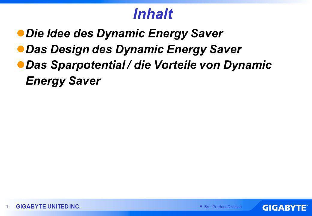 Inhalt Die Idee des Dynamic Energy Saver