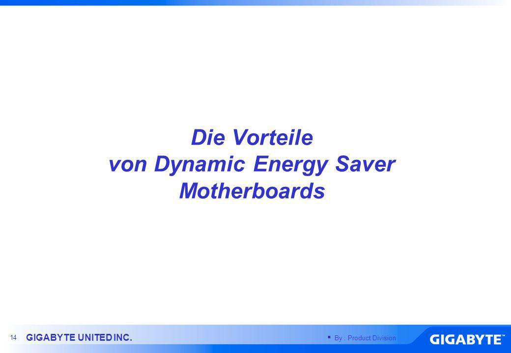 Die Vorteile von Dynamic Energy Saver Motherboards