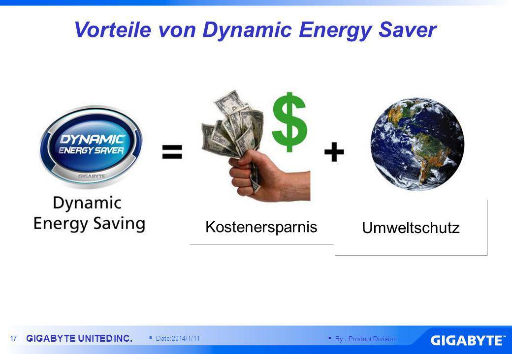 Vorteile von Dynamic Energy Saver