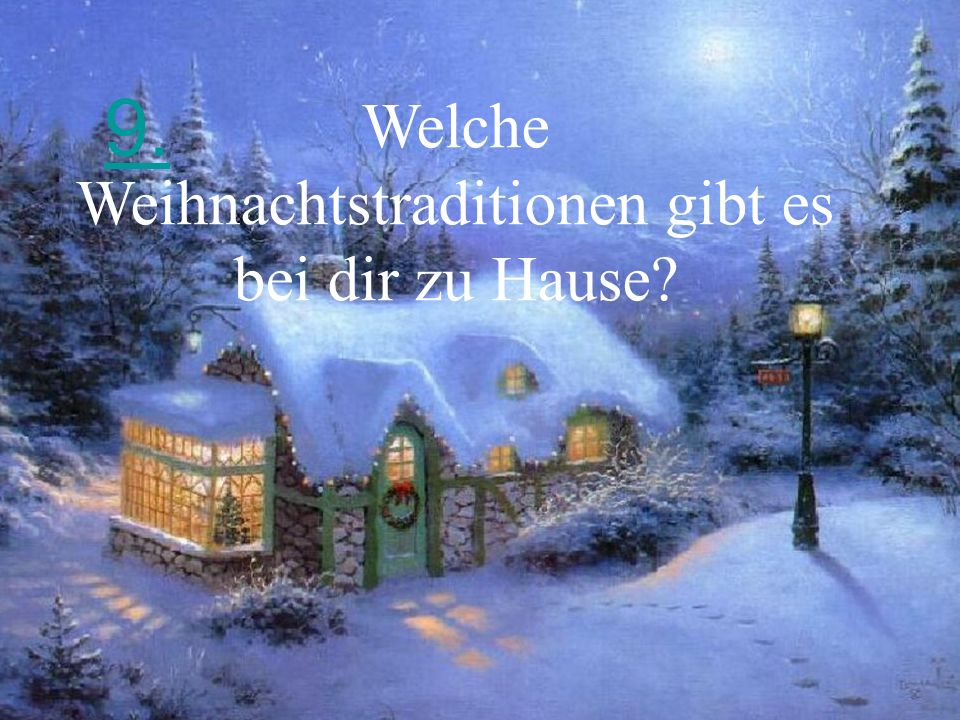 Welche Weihnachtstraditionen gibt es bei dir zu Hause