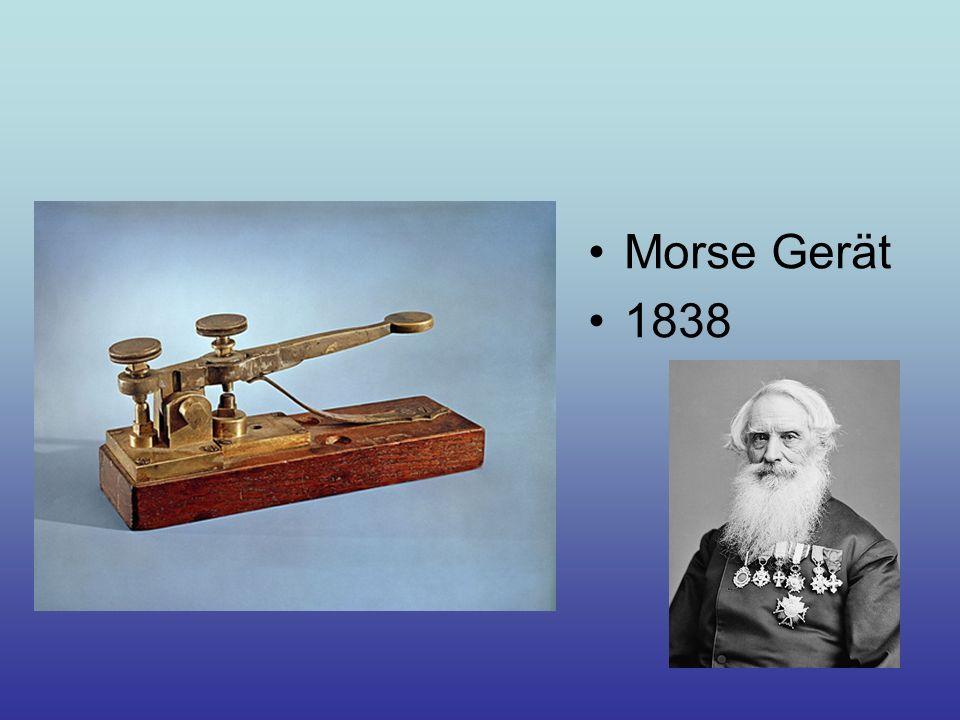 Morse Gerät 1838