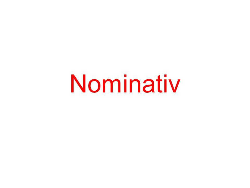 Nominativ