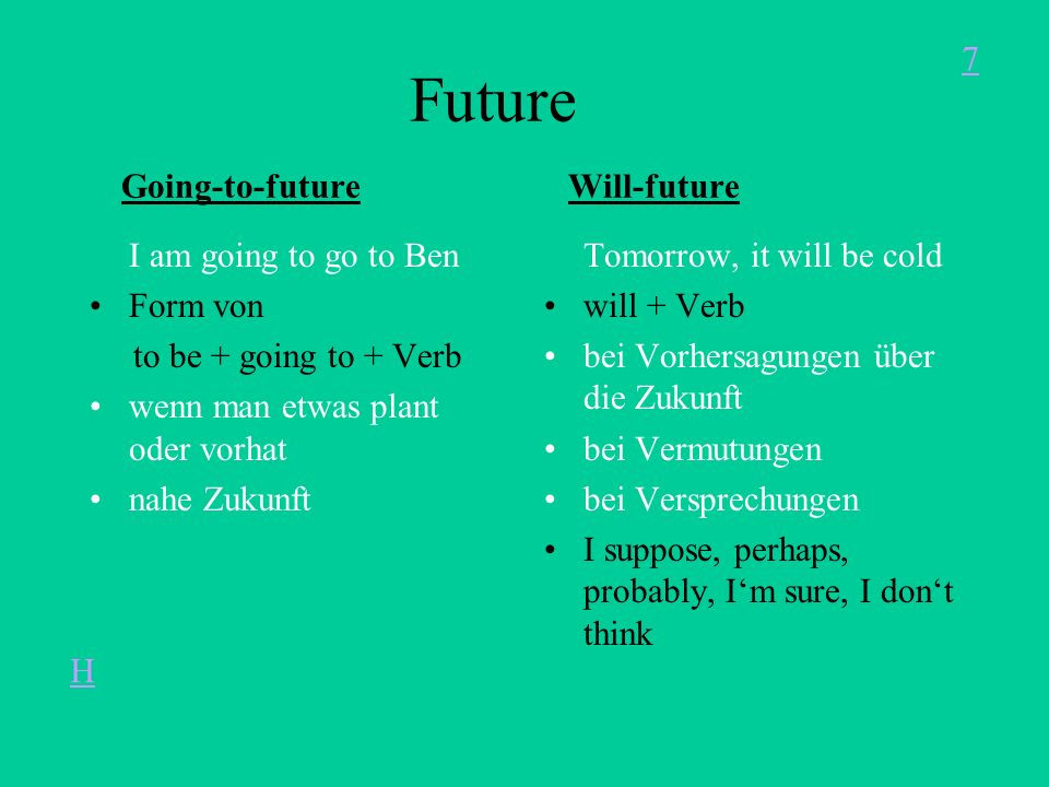 Future Going-to-future Will-future