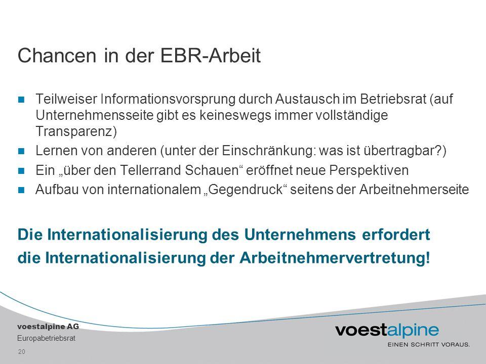 Chancen in der EBR-Arbeit