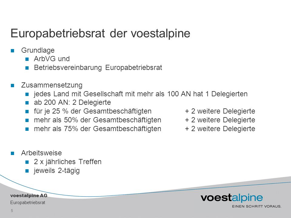 Europabetriebsrat der voestalpine