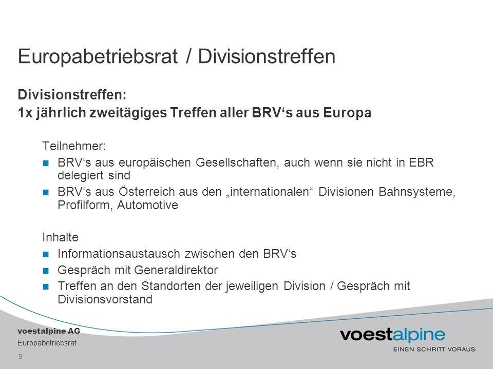 Europabetriebsrat / Divisionstreffen