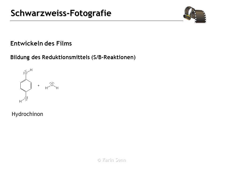 Entwickeln des Films Bildung des Reduktionsmittels (S/B-Reaktionen)