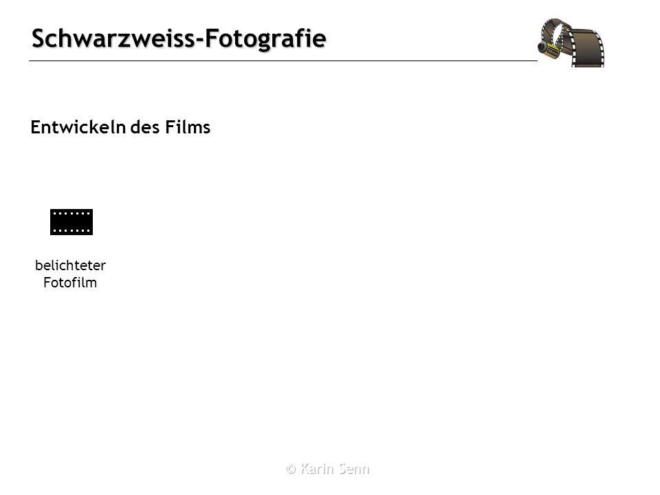 Entwickeln des Films belichteter Fotofilm